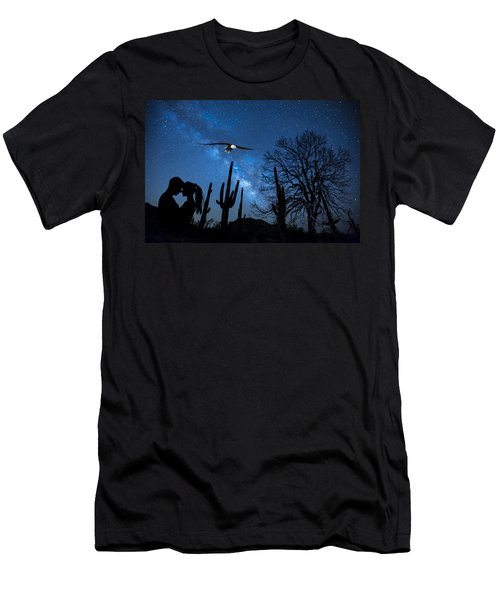Men's T-Shirt (Athletic Fit) featuring the digital art Milky Way Proposal by Ericamaxine Price