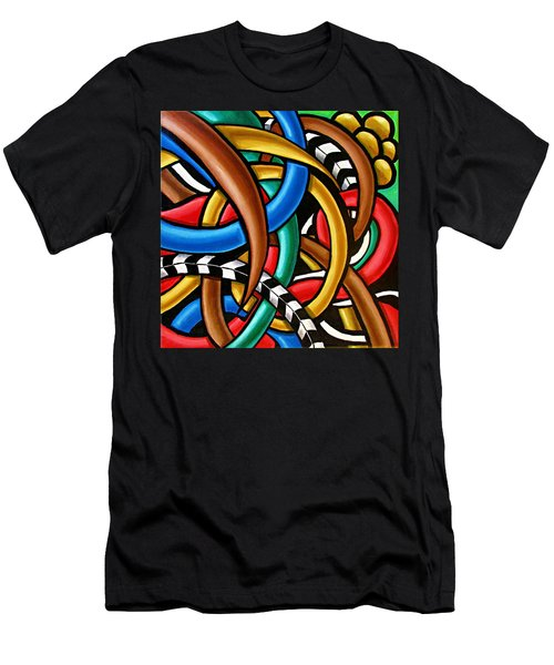 Colorful Abstract Art Painting Chromatic Intuitive Energy Art - Ai P. Nilson Men's T-Shirt (Athletic Fit)