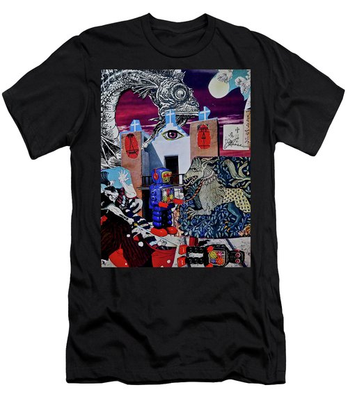 Men's T-Shirt (Athletic Fit) featuring the painting Mind's Eye by Joan Reese