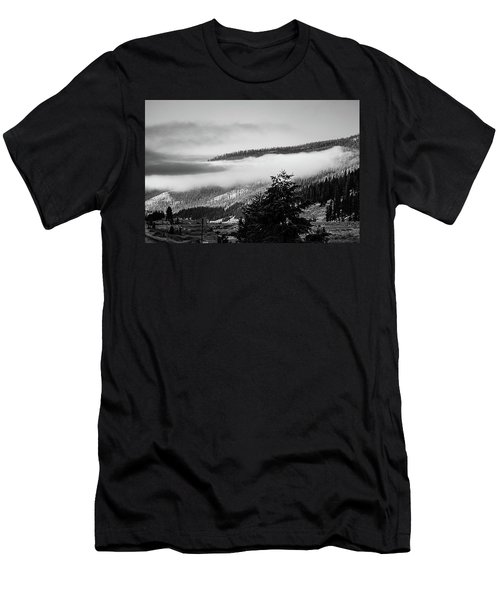 Men's T-Shirt (Athletic Fit) featuring the photograph Misty Mountain  by Pete Federico