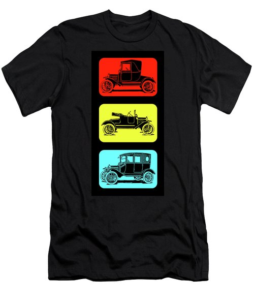 Model T Ford Triple Men's T-Shirt (Athletic Fit)