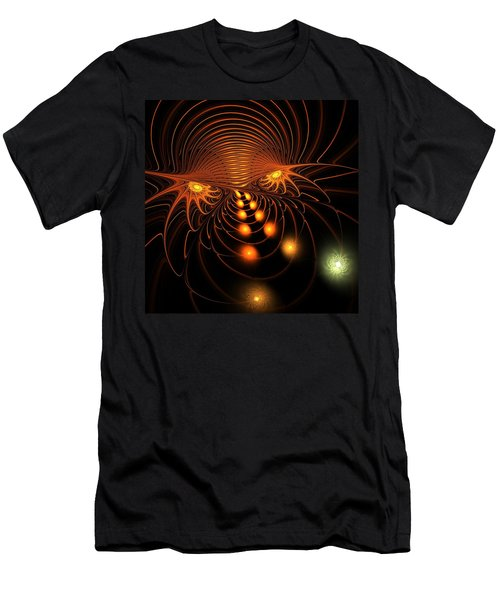 Men's T-Shirt (Athletic Fit) featuring the digital art Monster's Eyes by Anastasiya Malakhova