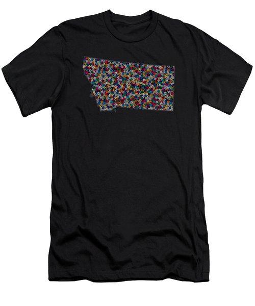 Montana Maps - 2 Men's T-Shirt (Athletic Fit)