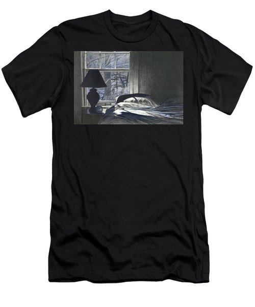 Moon Light On Our Bed Men's T-Shirt (Athletic Fit)