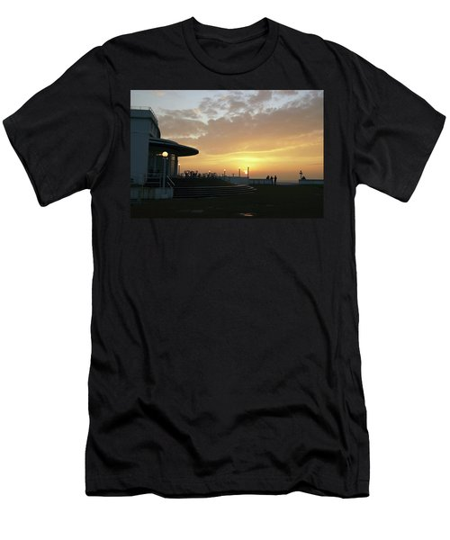 Morecambe. Evening On The Bay Men's T-Shirt (Athletic Fit)