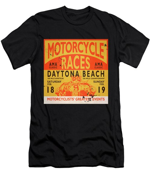 Motorcycle Races Daytona Beach Men's T-Shirt (Athletic Fit)