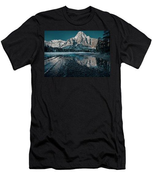Mount Chephren Reflected Men's T-Shirt (Athletic Fit)