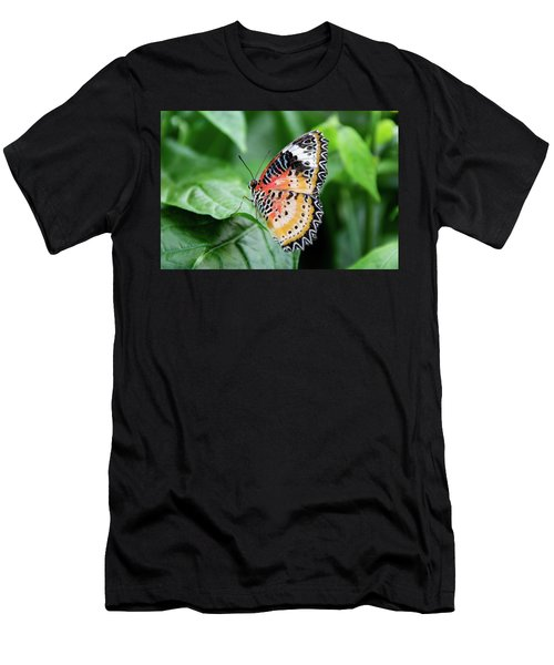 Multi Colored Butterfly Men's T-Shirt (Athletic Fit)