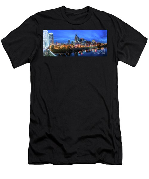 Nashville Night Men's T-Shirt (Athletic Fit)