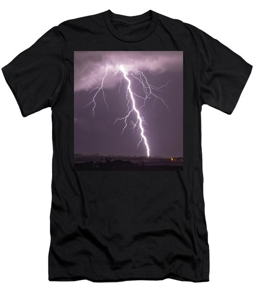 Men's T-Shirt (Athletic Fit) featuring the photograph Nebraska Arcus And Lightning 046 by NebraskaSC