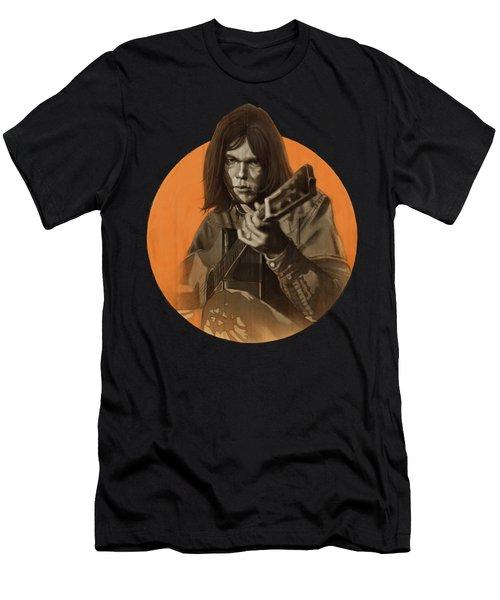 Neil Young Harvest Men's T-Shirt (Athletic Fit)