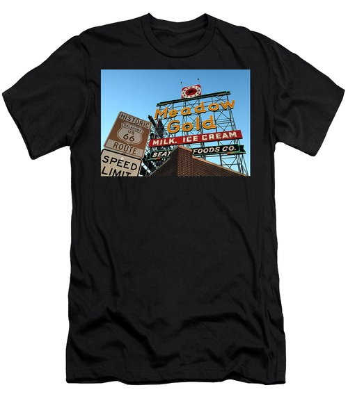 Neon Nostalgia, Meadow Gold Scaffold Sign Men's T-Shirt (Athletic Fit)