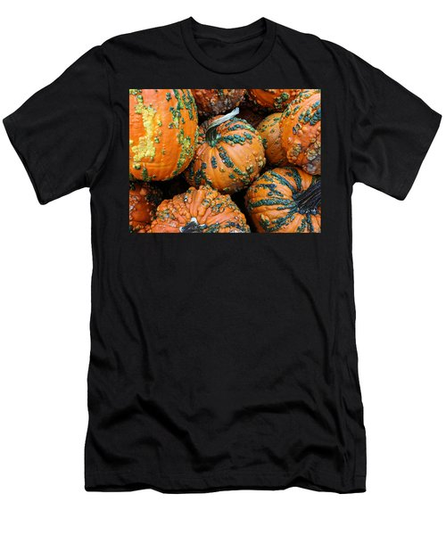 Men's T-Shirt (Athletic Fit) featuring the photograph Nestled - Autumn Pumpkins by Debi Dalio