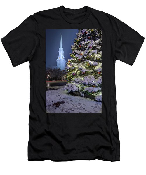 New Snow For Christmas Men's T-Shirt (Athletic Fit)