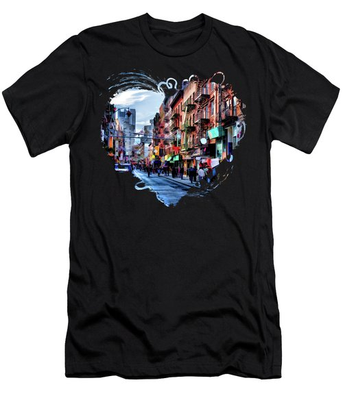 New York City Chinatown Men's T-Shirt (Athletic Fit)
