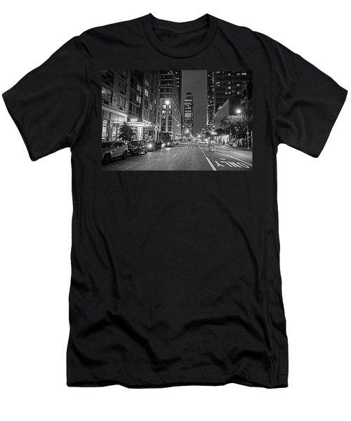 New York City Gotham West Market New York Ny Black And White Men's T-Shirt (Athletic Fit)
