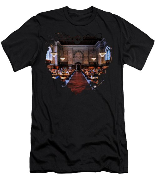 New York City Public Library Rose Reading Room Men's T-Shirt (Athletic Fit)