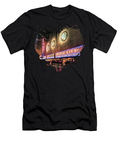 New York City Radio City Music Hall Men's T-Shirt (Athletic Fit)