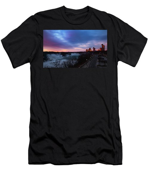 Niagara Falls At Sunrise Men's T-Shirt (Athletic Fit)