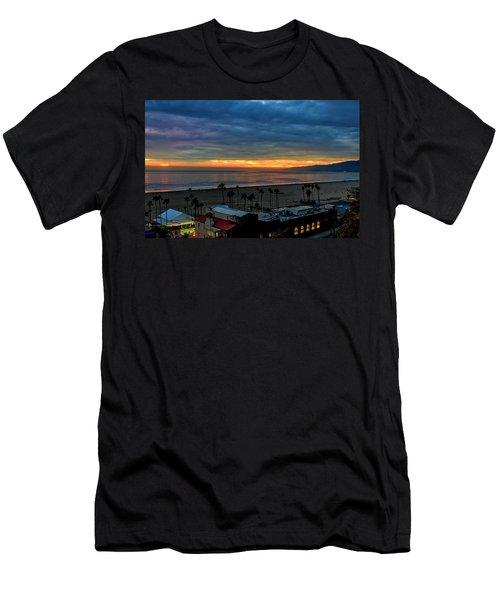 Night Tennis Anyone Men's T-Shirt (Athletic Fit)