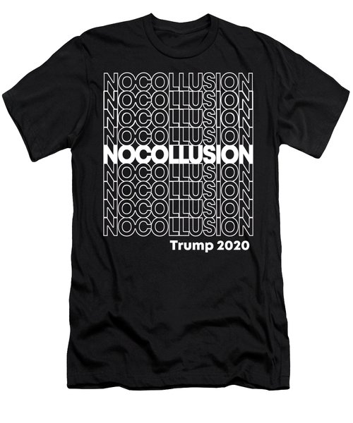 No Collusion Trump 2020 Men's T-Shirt (Athletic Fit)