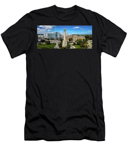 Men's T-Shirt (Athletic Fit) featuring the photograph North Point Tower by Randy Scherkenbach