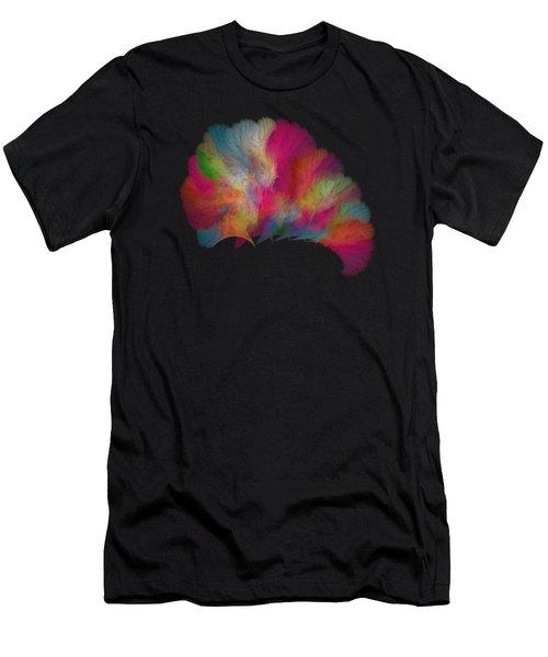 Ocean Fan Coral  Detailed Fractal  Men's T-Shirt (Athletic Fit)