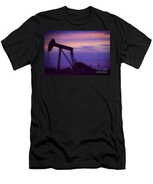 Oil Sunset Men's T-Shirt (Athletic Fit)