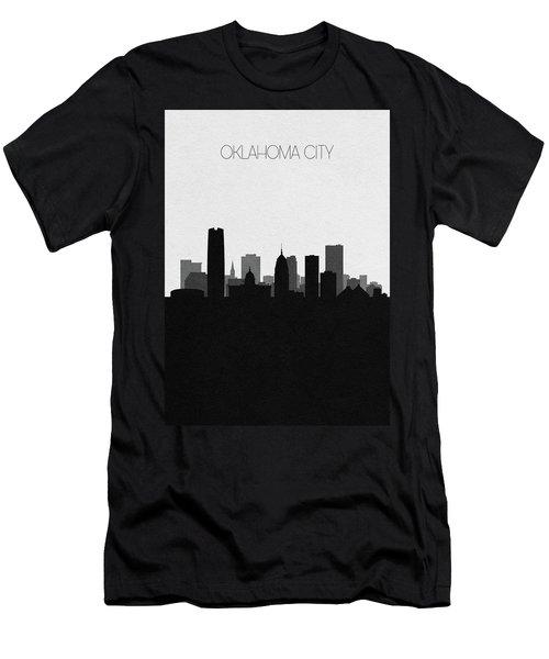 Oklahoma City Cityscape Art Men's T-Shirt (Athletic Fit)