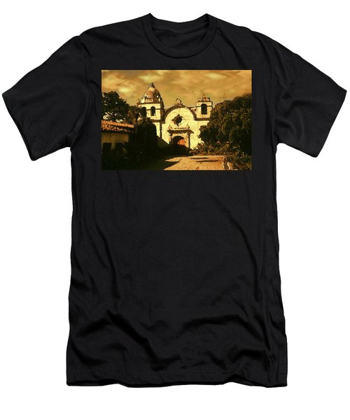 Old Carmel Mission - Watercolor Painting Men's T-Shirt (Athletic Fit)