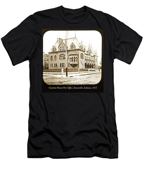Old Customs House And Post Office, Evansville, Indiana, 1915 Men's T-Shirt (Athletic Fit)