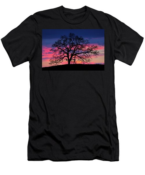 Men's T-Shirt (Athletic Fit) featuring the photograph Old Oak Sunset by John Rodrigues
