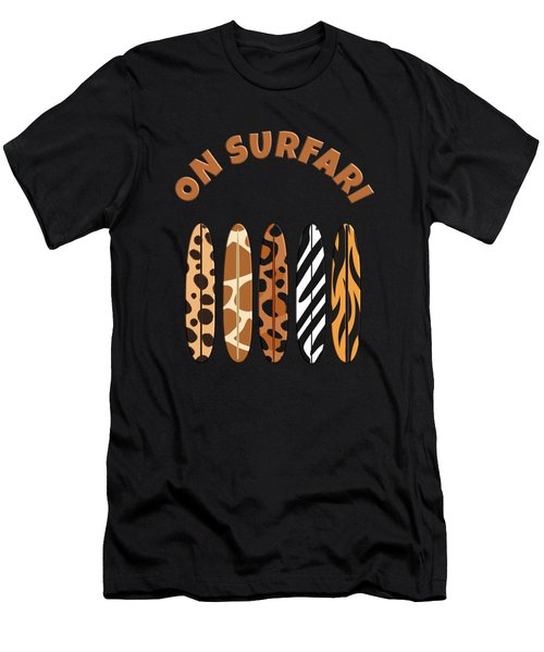 On Surfari Animal Print Surfboards  Men's T-Shirt (Athletic Fit)