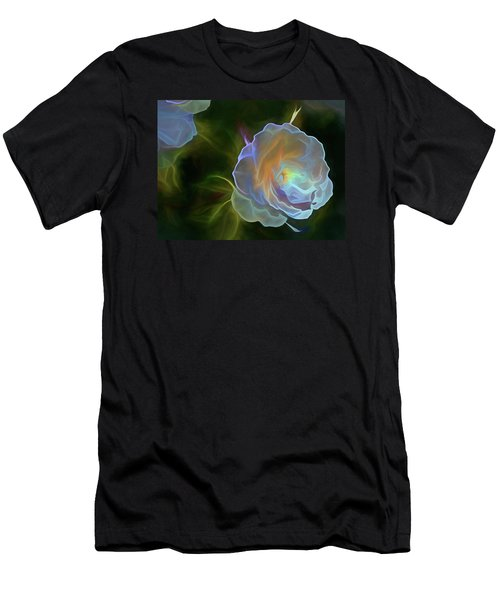Men's T-Shirt (Athletic Fit) featuring the mixed media Open To Light 11 by Lynda Lehmann