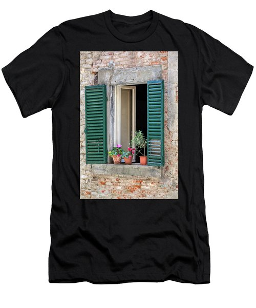 Open Window Of Tuscany Men's T-Shirt (Athletic Fit)