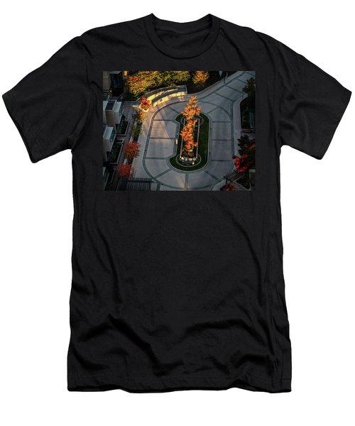 Orange Trees In Autumn Men's T-Shirt (Athletic Fit)
