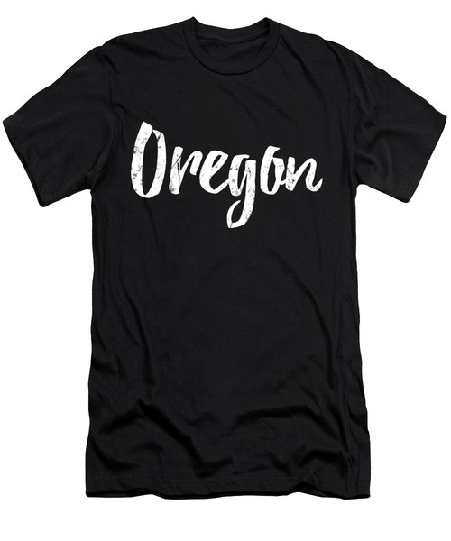 Men's T-Shirt (Athletic Fit) featuring the digital art Oregon by Flippin Sweet Gear