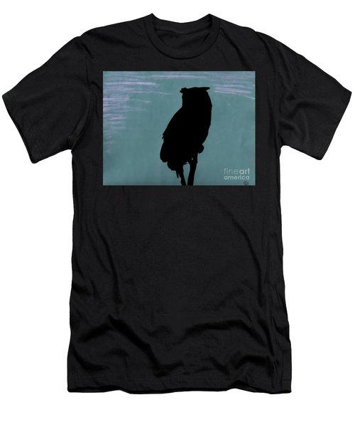 Owl Silhouette Men's T-Shirt (Athletic Fit)