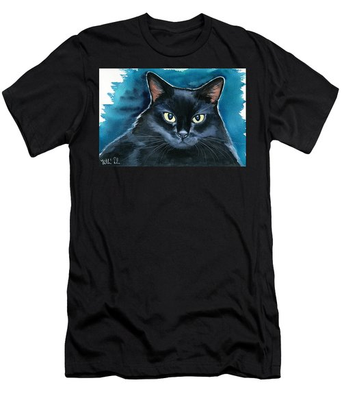 Ozzy Black Cat Painting Men's T-Shirt (Athletic Fit)