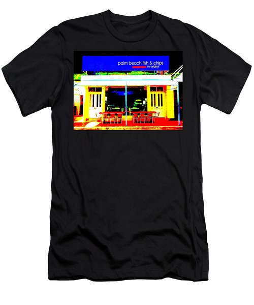 Palm Beach Australia - Fish And Chips Men's T-Shirt (Athletic Fit)