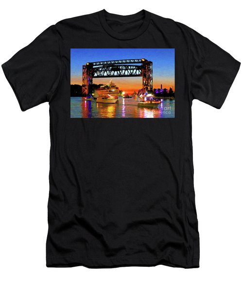 Parade Of Lighted Boats Men's T-Shirt (Athletic Fit)