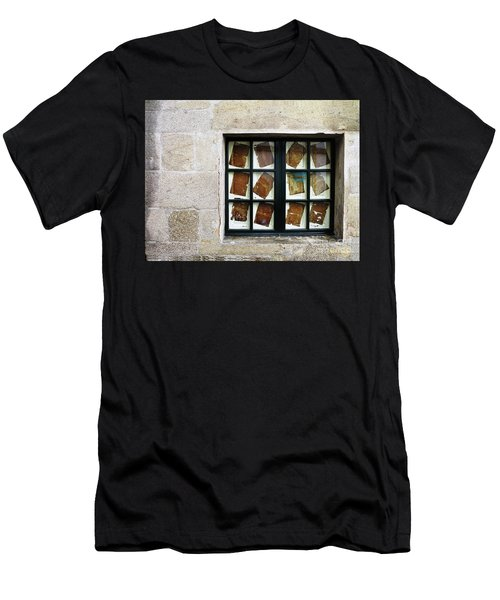 Men's T-Shirt (Athletic Fit) featuring the photograph Parchment Panes by Rick Locke