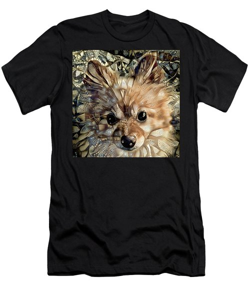 Paris The Pomeranian Dog Men's T-Shirt (Athletic Fit)