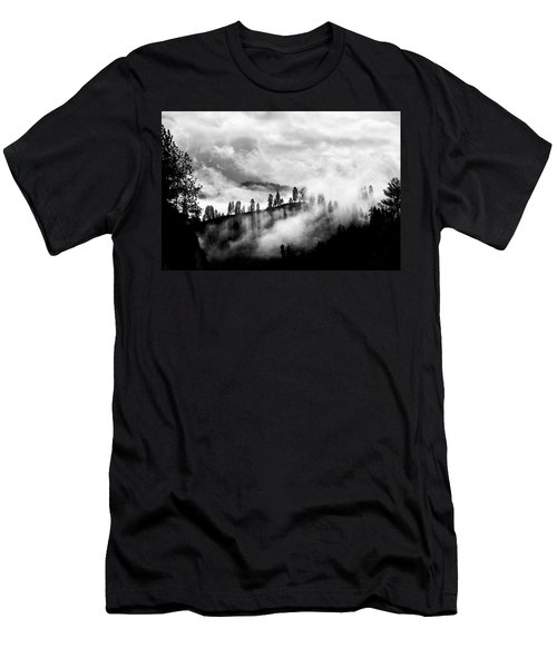 Passing Storm Central Idaho Mountains Men's T-Shirt (Athletic Fit)