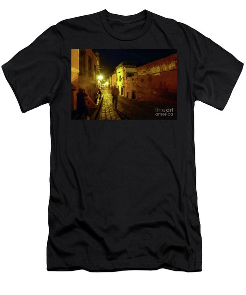 Men's T-Shirt (Athletic Fit) featuring the photograph Patzcuaro Street by Rosanne Licciardi