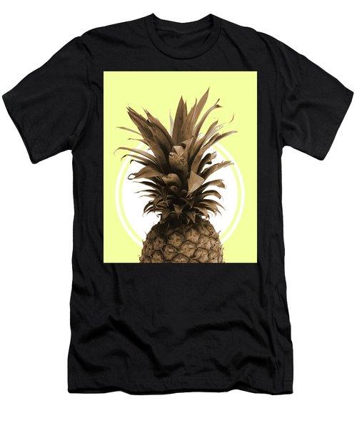 Pineapple Print - Tropical Poster - Botanical Print - Pineapple Wall Art - Yellow, Golden - Minimal Men's T-Shirt (Athletic Fit)