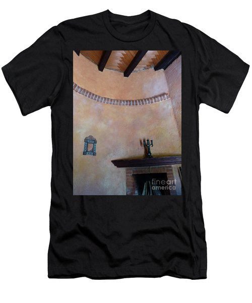 Men's T-Shirt (Athletic Fit) featuring the photograph Pink Adobe Wall by Rosanne Licciardi
