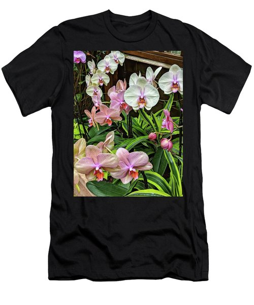 Pink And  White Orchids Men's T-Shirt (Athletic Fit)