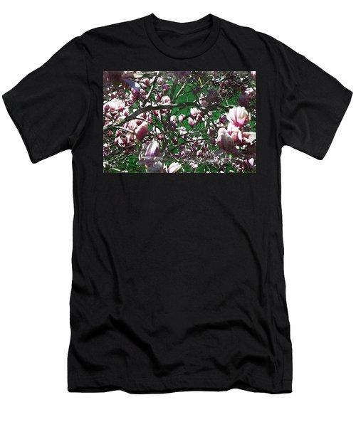 Pink Bush Men's T-Shirt (Athletic Fit)