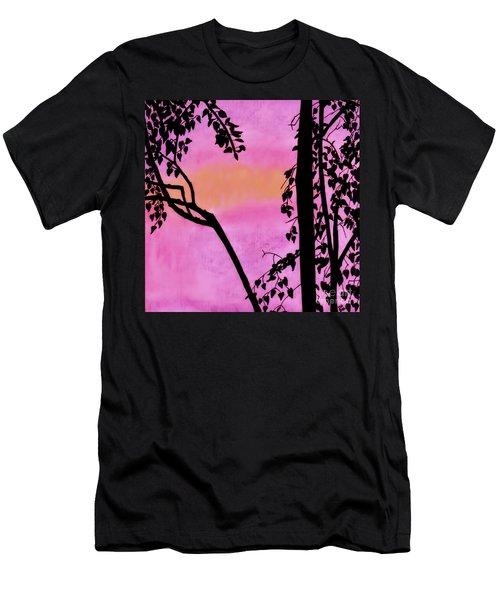 Pink Sky Sunset Men's T-Shirt (Athletic Fit)